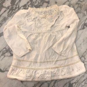Gap frozen snowflake ivory intricate details tunic
